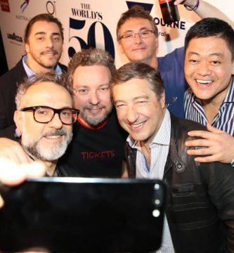 Foto selfie ganadores mejor restaurante del mundo 2018